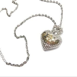 ❤️ Juicy Couture Pave Heart with Crown Necklace